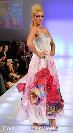 Alexandra Popescu-York fashion show at Couture Fashion Week NY