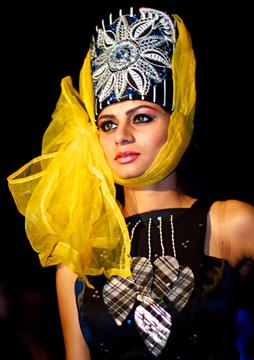 Fashion designs by Evgenia Luzhina-Salazar at Couture Fashion Week New York