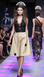 Alexandra Popescu-York Spring 2018 fashion show at Couture Fashion Week NY