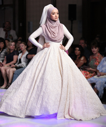 Eja Shahril Spring 2018 fashion show at Couture Fashion Week NY