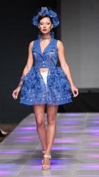 Evgenia Luzhina Spring 2018 fashion show at Couture Fashion Week NY