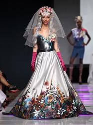 Laura Sporerova Spring 2018 fashion show at Couture Fashion Week NY