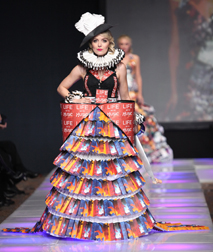 Opera Recycles presented by Opera Carolina Spring 2018 fashion show at Couture Fashion Week NY