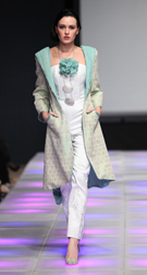 Sara Jamaludin Spring 2018 fashion show at Couture Fashion Week NY