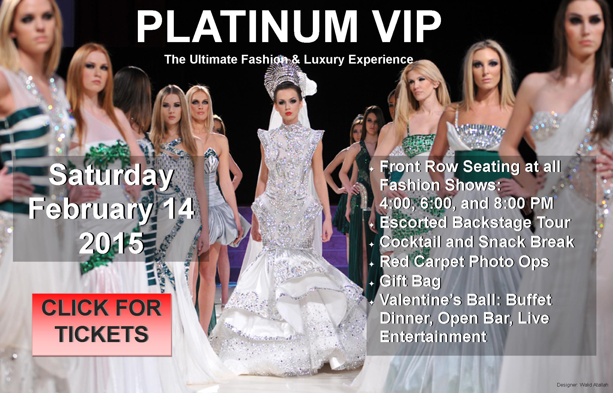 platinum vip tickets at couture fashion week