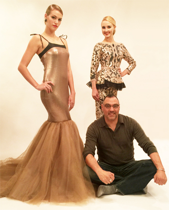 Luis Machicao fashion show at Couture Fashion Week NY