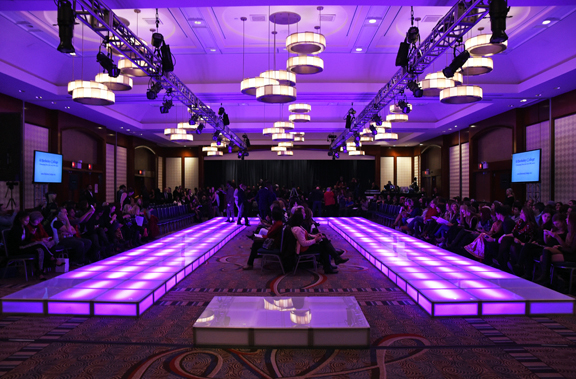 Fashion show production runway