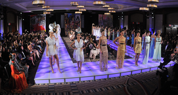 Fashion show production runway