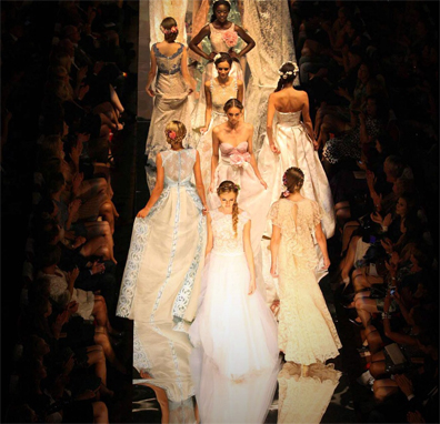 Addy van den Krommenacker fashion show at Couture Fashion Week NY