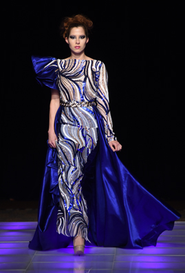 Fatou Ndene Ndiaye fashion show at Couture Fashion Week