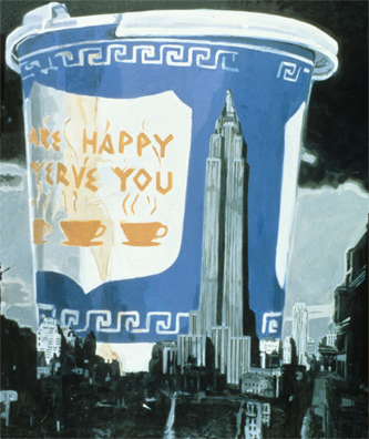 """Large Cup of Coffee"" a print by artist Kevin Berlin will be audtioned at the GSF Awards Gala in Cannes, France."