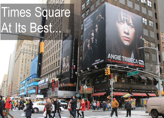Your ad on a Times Square Billboard during Couture Fashion Week and beyond