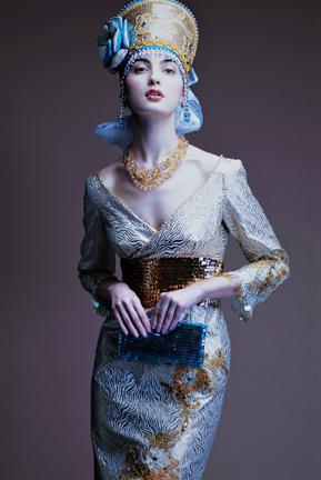 Evgenia Luzhina fashion show at Couture Fashion Week New York