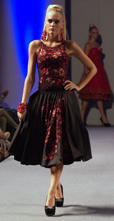 Designer Ariel Cedeno fashion show at Couture Fashion Week NY