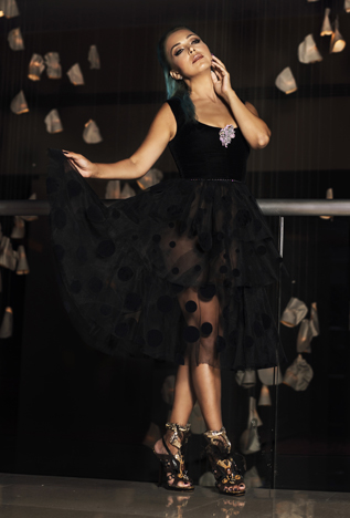 Alexandra Popescu-York fashion show at Couture Fashion Week NY