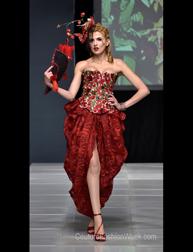 Gina Frias London fashion show at Couture Fashion Week NY
