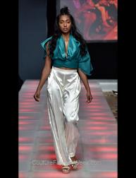 Nailuj Villarroel Meme Collection fashion show at Couture Fashion Week NY