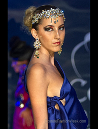 Wasee Jewelry fashion show Couture Fashion Week New York, fashions by Andres Aquino